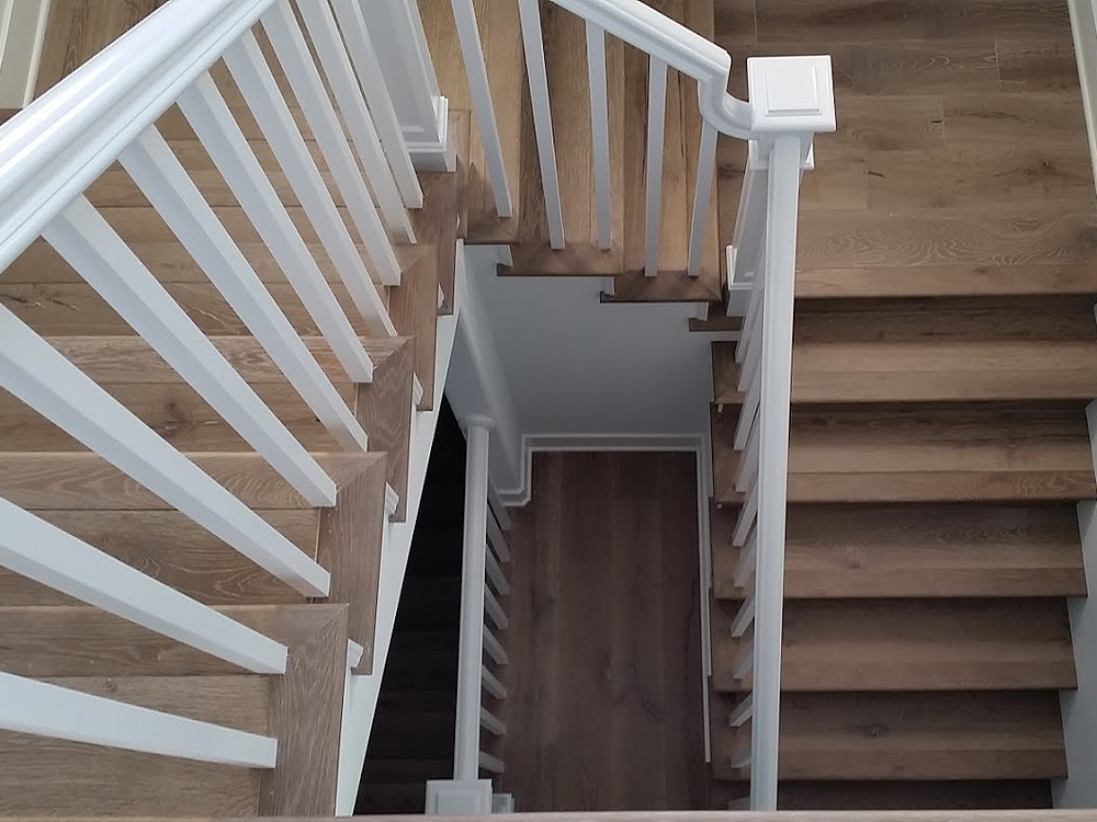 Woodfloors installed on Spiral Stairs