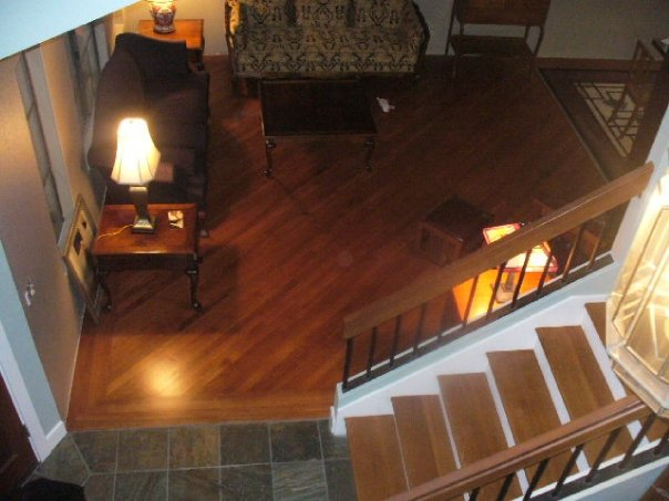 Photograph of Hardwood Flooring Installation