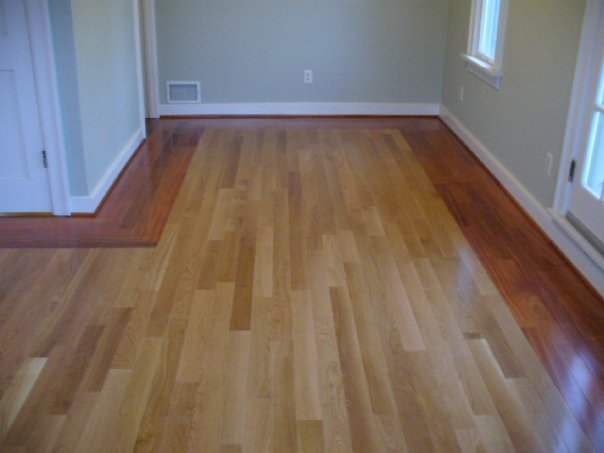 Two Diffe Color Wood Floors